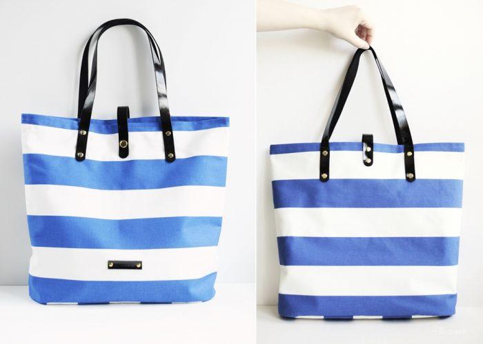 torebka plażowa, torebka, kaletnictwo, szycie