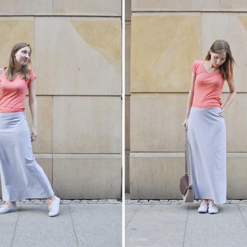 Jak  uszyć długą spódnicę z dresówki?